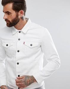 Белая джинсовая куртка Levis - Белый