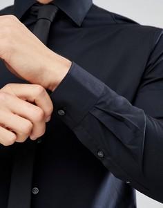 Черная зауженная рубашка Michael Kors - Черный