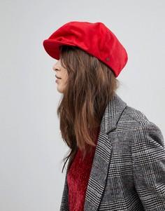 Красная плоская кепка Brixton - Красный