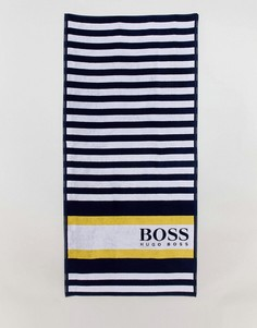 Пляжное полотенце в полоску BOSS by Hugo Boss - Темно-синий