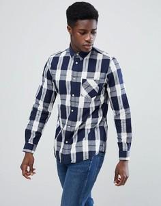 Рубашка в клетку классического кроя Selected Homme - Темно-синий