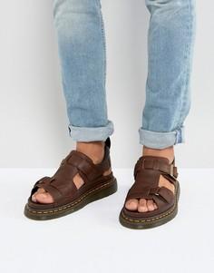 Коричневые сандалии Dr Martens Hayden - Рыжий