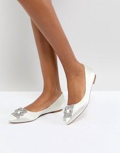 Туфли на плоской подошве Dune London Bridal Briella - Кремовый