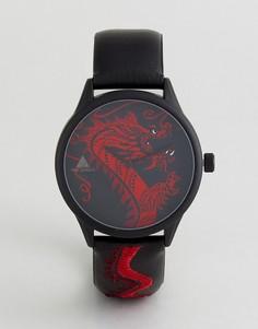 Часы с отделкой в виде дракона ASOS - Черный