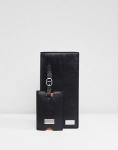 Подарочный набор из дорожного кошелька и багажной бирки Ted Baker Katty - Черный