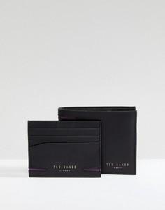 Подарочный набор с бумажником и кредитницей Ted Baker Figset - Черный