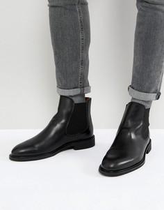Кожаные ботинки челси Selected Homme - Черный
