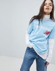 Синяя футболка New Balance - Синий