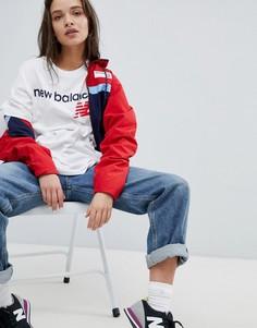 Белая футболка New Balance - Белый