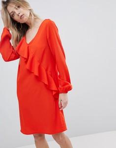 Платье с оборками Vila - Оранжевый