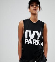 Черная обтягивающая майка с логотипом Ivy Park - Черный
