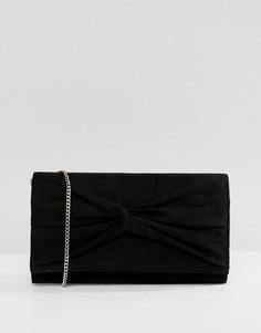 Клатч с декоративным узлом Lipsy - Черный