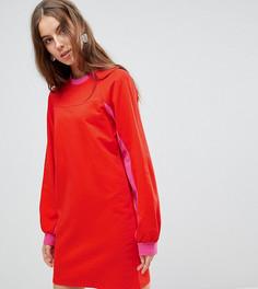 Трикотажное платье мини колор блок ASOS TALL - Мульти