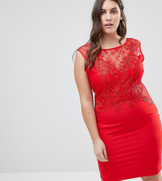 Облегающее платье Lipsy Curve - Красный