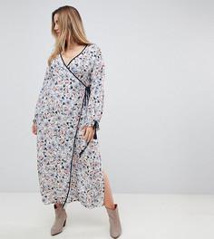 Платье миди с цветочным принтом и запахом Glamorous Curve - Белый