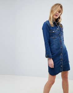 Джинсовое платье-рубашка JDY - Синий