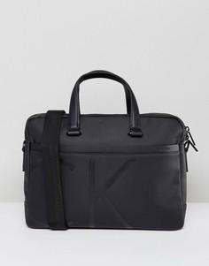 Сумка для ноутбука с логотипом Calvin Klein - Черный