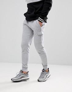 Серые облегающие джоггеры карго boohooMAN - Серый