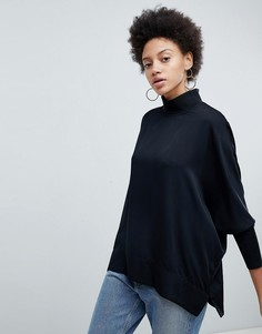 Блузка с высоким воротом Selected - Черный