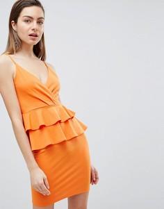 Платье мини с двойной баской Ivyrevel - Оранжевый