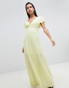 Платье макси с рукавами-кимоно PrettyLittleThing - Желтый