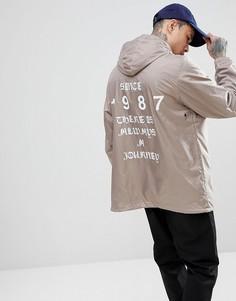 Серая куртка с принтом на спине Napapijri Aumo - Серый