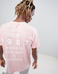 Розовая футболка Napapijri Simmy - Розовый