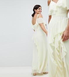 Платье макси с оборкой Coast Plus Illy - Желтый