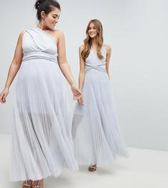 Платье-макси с завязками Coast Plus - Серебряный