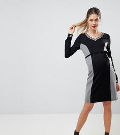 Платье с отделкой в спортивном стиле Mamalicious - Мульти Mama.Licious