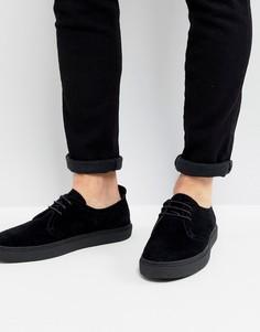 Черные замшевые туфли Fred Perry Linden - Черный