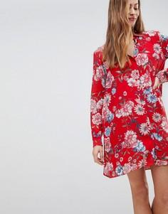 Платье-рубашка с цветочным принтом Pimkie - Мульти