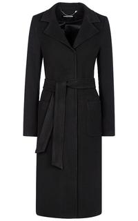 Черное пальто с поясом La Reine Blanche