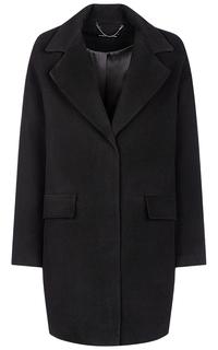 Черное пальто с английским воротником La Reine Blanche