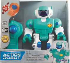 KEENWAY Робот: свет, движение (синий)