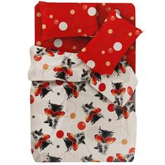 Постельное белье FOR YOU Оранж 8635+8636 вид 1 Комплект 1.5 спальный Бязь