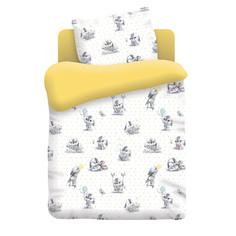 Постельное белье Непоседа Зайчата КДН-1 8816 Комплект 1.5 спальный Бязь Yellow