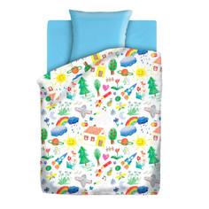 Постельное белье Непоседа Радуга КПН-10 4625 Комплект 1.5 спальный Бязь Light Blue