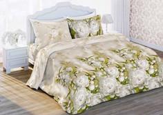 Постельное белье Любимый дом Яблоневый Цвет 6321 вид 1 Комплект Евро Бязь