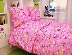 Постельное белье Атра Baby Овечки 112x147/110x150/60x60 Бязь Pink 2369728