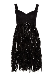 Платье с бахромой из пайеток Dolce&;Gabbana
