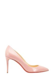 Розовые лакированные туфли Pigalle Follies 85 Christian Louboutin