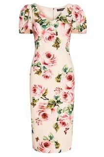Платье с розами Dolce&;Gabbana
