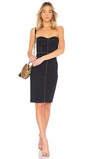 Джинсовое платье-бюстье 499 - LPA