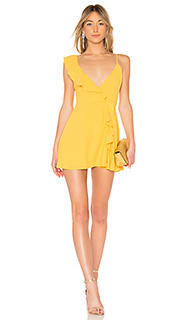 Платье с запахом asymmetrical ruffle - LPA