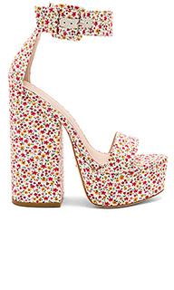 Туфли на каблуке с открытым носком peyton - RAYE