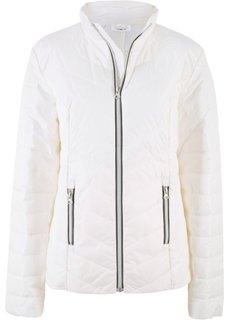 Куртка с цветной молнией (кремовый) Bonprix