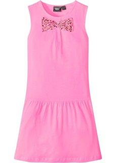 Платье с пайетками (ярко-розовый фламинго) Bonprix