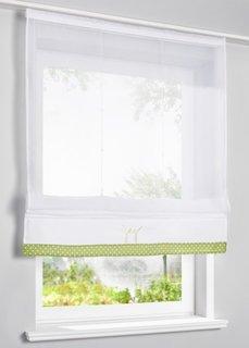 Римская штора Джой, Шина с лентой велкро (белый/зеленый) Bonprix