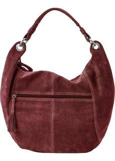 Кожаная сумка-шопер (красно-коричневый) Bonprix